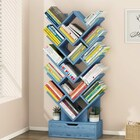 15 Shelving Bookshelf Display Cabinet Shelf Bookcase Organizer (Electric Blue)