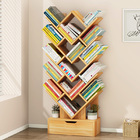 15 Shelving Bookshelf Display Cabinet Shelf Bookcase Organizer (Oak)