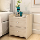 Varossa Classic Bedside Table / Chest of Drawers (White Oak)