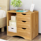 Zest 3 Drawer and Shelf Utility Side Table (Oak)