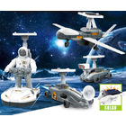 4 In 1 Solar Large Space Adventure DIY Educational Toy Kit