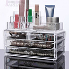 Cosmetic Organizer Drawers Clear Jewellery Box Makeup Storage Case LARGE 4d Curved Top