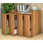 Infinity Vertical Cabinet Shelving System 4-Drawer (Oak)