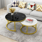 Synergy 2 In 1 Designer Marble Pattern Coffee Table