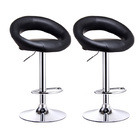 2 x  Royal Designer Bar Stools (BLACK - Set of 2)