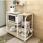 Deluxe Organizer Kitchen Workbench Storage Shelf (White Oak)