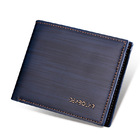 Men's Classic Designer Man Made Leather Wallet (Navy Blue)
