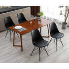 4 x Designer PU Leather Stylish Chairs ( 4PK Black)