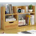 Sublime Large Desk Hutch Storage Shelf Unit Organizer (Oak)