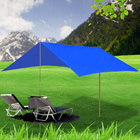 3m Portable Sun Shade Sail Complete Kit (Blue)