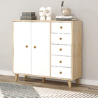 Caesar Large Chest of Drawers and Cabinet (White)